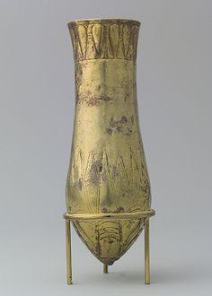 Situla with floral decoration, late Dynasty XIX–Third Intermediate Period (ca. 1188–712 B.C.)  From Bubastis  Gold