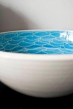 Bowl Pez - http://redarte.com.ar/2013/09/bowl-pez/ #RedArte #Art #Arte #Ceramica