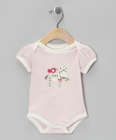 Take a look at this Pink Zebra Organic Bodysuit - Infant by My O Baby on #zulily today!