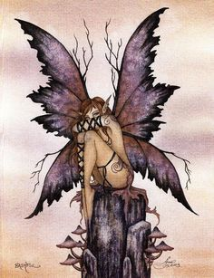 I remember drawing this piece by Amy Brown in my sketchbook when I was in High School! I remember drawing this piece by Amy Brown in my sketchbook when I was in High School! Elfen Fantasy, Fantasy Art, Fantasy Brown, Amy Brown Fairies, Dark Fairies, Fantasy Fairies, Fairy Drawings, Fairy Tattoo Designs, Kobold