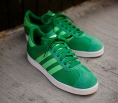 adidas Originals Gazelle II – Fairway / Green Zest – Running White