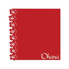 SVG File Hawaiian 'Ohana 12x12 Border for Disney or by SassaScraps, $1.50
