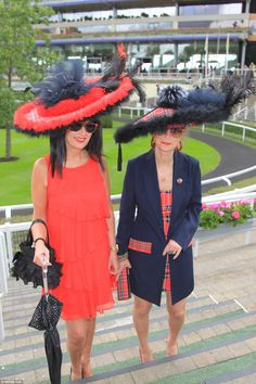 Royal Ascot, June 16, 2016. A patriotic pair incorporated tartan trims into every element of their outfits from hats t...