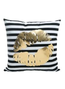 Monkeysell Bronzing Flannelette Home Throw Pillow Cover Lips Love Black Striped White Print Gold Black Room Decor Throw Pillows Cover for Couch Bed Sofa Christmas inches Gold Throw Pillows, Silver Pillows, Designer Throw Pillows, Throw Pillow Cases, Pillow Set, Pillow Covers, Pillow Talk, Cushion Covers, Quote Pillow