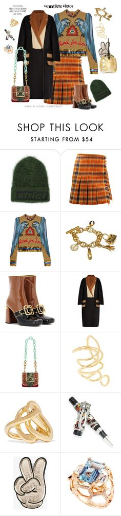 """""""Fashion Chaos"""" by juliabachmann ❤ liked on Polyvore featuring Alexander Wang, Missoni, Gucci, Prada, MaxMara, Burberry, ...Lost, Jennifer Fisher, Montegrappa and Anya Hindmarch"""
