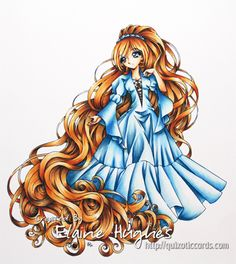 """One of my favourite things to colour is hair; I love images with long flowing hair where I can really get lost in colouring. So, when I saw the new digi release from Make it Crafty, I simply had to colour up the new (and challenging) image – """"Maiden with Long Golden Hair"""". I printed …"""