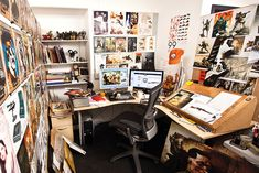 Have a peek inside the inspirational workspace of King Kong and District 9 artist Greg Boardmore.