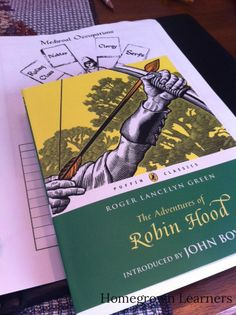 Homegrown Learners - Robin Hood book study and lapbook Homeschool Coop, Homeschooling, Renaissance And Reformation, Hood Books, Library Skills, Writing Classes, Book Study, Teaching History, Free Activities