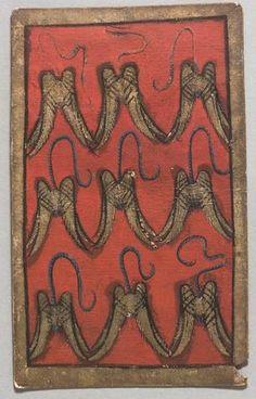 """(9) Spielkarte Falkenluder Neun aus dem """"Ambraser Hofjagdspiel"""", Konrad Witz (Werkstatt), Basel, um 1440/1445. -- http://bilddatenbank.khm.at/viewArtefact?id=91030"""
