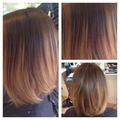 Balayage ombre on short hair... #HairBySher1 #www.shermizushima.com