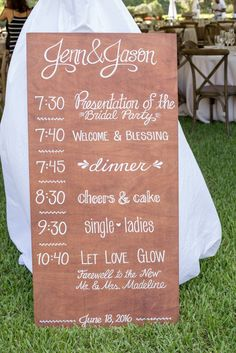 Wedding Schedule | Wedding Planning