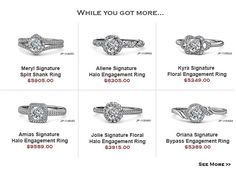 #Signature #Collection New Arrival Sale with 10% Off Sitewide | TriJewels Beautiful rings won't come out of the screen.......But putting it in your cart will...... HOLIDAYS SALE - 75% OFF Retail #love #gift #offers #engagementring #diamond #christmas #trijewels