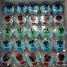 Fairy Cakehouse Power Ranger Cupcakes