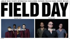 A clean, responsive event site from the UK - fielddayfestivals.com.