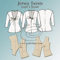Sewing Patterns Pattern Insights - Jersey Twist Patterns - can be used in lots of ways, dresses, skirts, tops etc - This is the first of a new series of pattern making posts called Sewing Patterns Free, Sewing Tutorials, Clothing Patterns, Sewing Projects, Sewing Tips, Sewing Hacks, Dress Patterns, Sewing Dress, Sewing Clothes