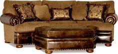 Leather Conversational, Fabric Sofa