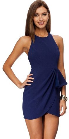 Biba Angel Frill Halter Dress on shopstyle.com.au