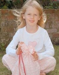 Girls Personalised Pyjamas Pink check bottom and T top
