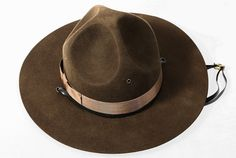Military Campaign Hat Brown USMC Mens Adult Drill Sergeant Hats All Sizes  Soldados a2633727ef98