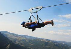 Il Volo Dell'Angelo -- World's Fastest Zip Line in Basilicata, Italy