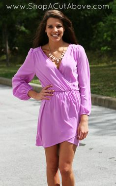 Sweet Wrap Dress In Lavender