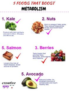 What's on your plate? Make room for these foods! They are heart-healthy, cancer-fighting, metabolism-boosting and extremely nutritious. Do you need a fast metabolism menu Metabolism Boosting Foods, Metabolism Booster, Fast Metabolism Diet, Metabolic Diet, Boost Your Metabolism, Heart Healthy Recipes, Healthy Tips, Diet Recipes, Healthy Foods