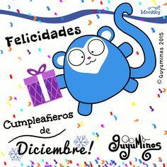 Los #guyuminos© envían un gran abrazo a nuestr@s amig@s que cumplen años!!!  Conoces a alguien que sea de #Diciembre??? #cumpleaños #felicidades #gif http://guyuminos.blogspot.mx/2015/11/felicidades-cumpleaneros-de-diciembre.html