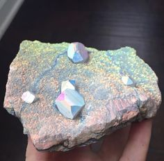 Rainbow Aura Apophyllite & Quartz Specimen Display Sized Cluster - dreamclub