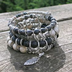 Twisted Silver Memory Wire Bracelet by BlooMoonJewelry on Etsy