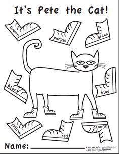 pete the cat rocking in my school shoes coloring page super