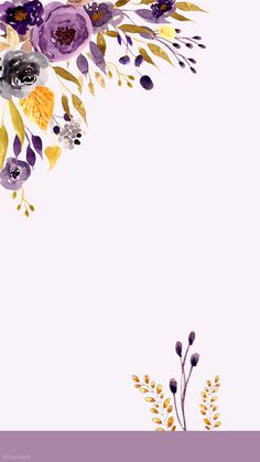 iPhone Lock Sreen Wallpapers HD from Uploaded by user, Floral (Cuptakes) ~ wallpaper/lock screen/background Flowers Wallpaper, Wallpaper Backgrounds, Cellphone Wallpaper, Iphone Wallpaper, Watercolor Flowers, Watercolor Art, Vintage Diy, Floral Border, Pretty Wallpapers