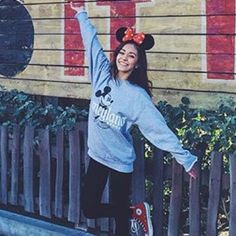ISO DISNEY CREWNECK i want this exact crew neck for when i go to disney. Brandy Melville Tops Sweatshirts & Hoodies