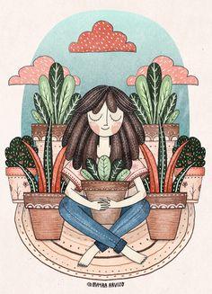 Doodles by Mayra Arvizo Arte Indie, Cute Illustration, Cute Drawings, Cute Wallpapers, Cute Art, Art Inspo, Art Girl, Watercolor Art, Fantasy Art