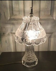 Cut Glass, Clear Glass, Glass Curio Cabinets, Victorian Table Lamps, Owl Lamp, Boutique Deco, Fairy Lamp, Hurricane Lamps, Beautiful Mirrors