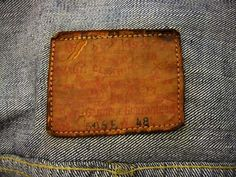 "Inspired by Aho's post from the ""Post something here, anything at all!"" thread, some pics of a (now sold) WW2 Levis S506 EXX with the T shape/split back, which was only available in sizes 46-50"".  This example is from Marvins' archives and has the early 'Solide' buckle -"
