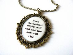 Les Miserables necklace Spring Mother's Day gift quote by amoronia, $18.00