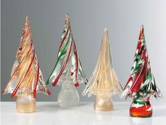 More glass Christmas tree ideas from Murano.