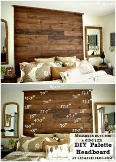 Wooden Pallet Projects Pallet Headboard - 40 Pallet Headboard Ideas to DIY for Your Beds - DIY Diy Pallet Sofa, Pallet Walls, Wooden Pallet Projects, Wooden Pallet Furniture, Wooden Pallets, Diy Furniture, Pallet Wood, Diy Projects, Pallet Ideas