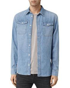 ALLSAINTS Larcaf Slim Fit Button Down Shirt. #allsaints #cloth #shirt