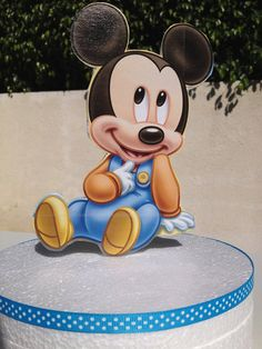 Baby Mickey Mouse Cake Topper for Baby Shower or 1st by FalconArte
