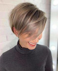 Thin Hair Cuts, Short Thin Hair, Short Hair With Layers, Short Hair Cuts For Women, Short Hair Styles, Short Pixie, Cuts For Thinning Hair, Thin Hair Pixie, Pixie Hair Color