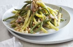 Seared French Beans with Picada This dish uses a traditional savoury Spanish garnish, called a Picada. It can be as thin as a paste or as dry as a crumble.