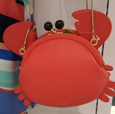 "Kate Spade Crab Crossbody Perfect for summer. Clever design for clasp. Measures 6"" x 5"" x 1.5"". kate spade Bags Shoulder Bags"