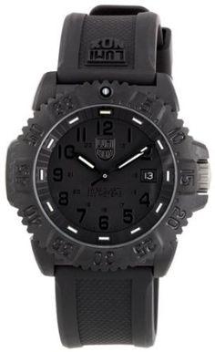 0f38964e67b Amazon.com  Luminox Evo Navy Seal Blackout Mens Watch 3051.BLACKOUT  Luminox