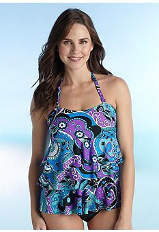 88879dd52f9bb Island Waves Good Vibes Ruffle Tiered Bandokini. Okay, found my bathing suit!  : Open Front CardiganTankini ...