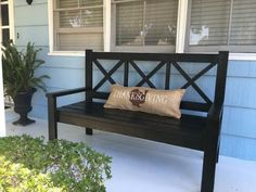 DIY Large Porch Bench