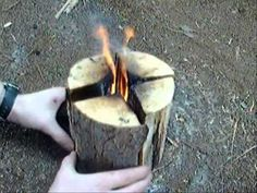 Swedish Fire Torch - new technique for cooking in our survival classes. The best part is that this video was made by a teenager! This would be a great way to cook without getting too deep into the fire pit.