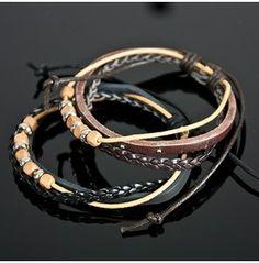 Multiple Leather Strap Bracelet   54