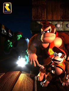 Donkey Kong and Diddy Kong Donkey Kong 64, Donkey Kong Country, Super Smash Bros, Super Mario Bros, Scooby Doo Images, Nintendo 64 Games, Banjo Kazooie, Diddy Kong, Playstation