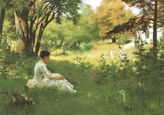Summer by Albert Edelfelt, circa1883